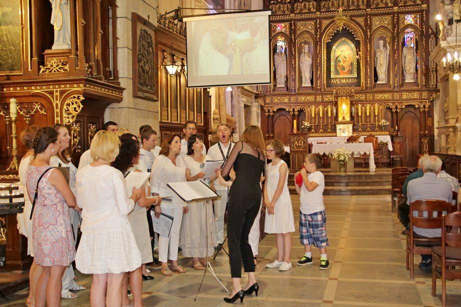 11 Jarmark Franciszkański 1 (28) Schola kapucyńska na Mszy Świętej o 12_30