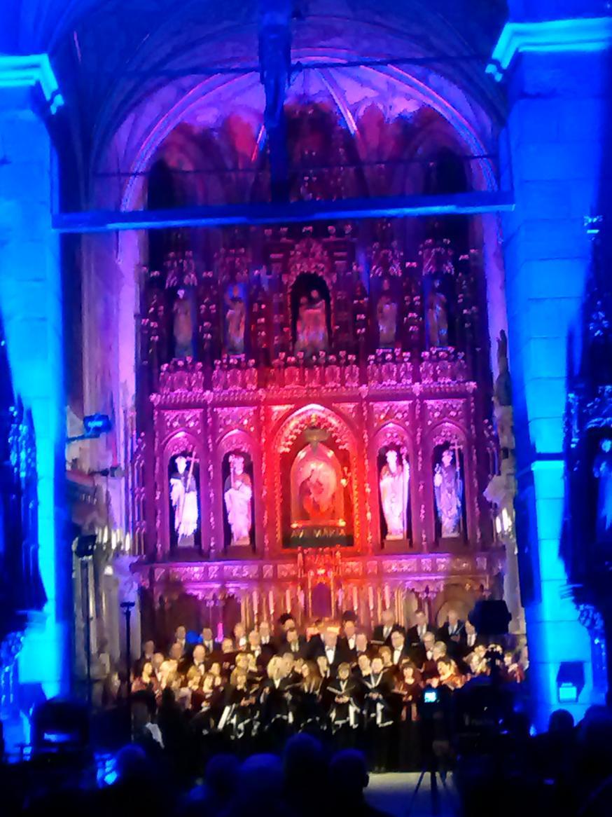 Efekty świetlne w czasie Bilijnej Drogi Krzyżowej z koncertem pieśni pasyjnych (31)