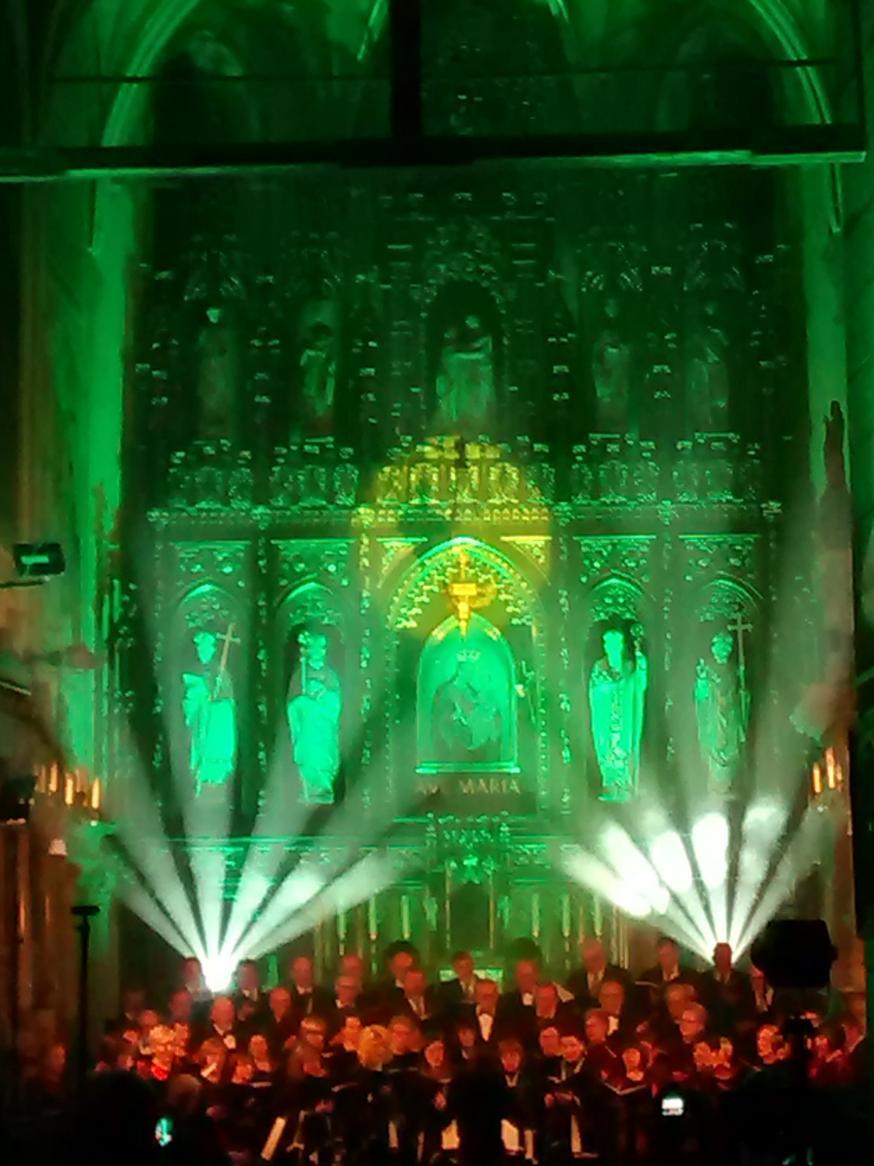 Efekty świetlne w czasie Bilijnej Drogi Krzyżowej z koncertem pieśni pasyjnych (33)