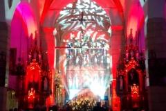 Efekty świetlne w czasie Bilijnej Drogi Krzyżowej z koncertem pieśni pasyjnych (04)
