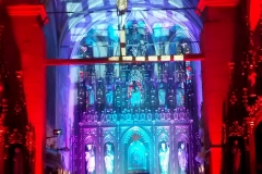 Efekty świetlne w czasie Bilijnej Drogi Krzyżowej z koncertem pieśni pasyjnych (13)