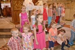 Przedszkole sióstr Józefitek na Mszy Świętej o 11 (01)