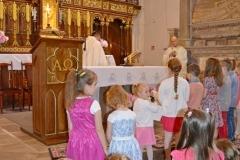 Przedszkole sióstr Józefitek na Mszy Świętej o 11 (03)