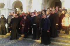 Zjazd grup Rycerstwa Niepokalanej z franciszkańskich klasztorów z Podkarpacia 11 listopada 2017